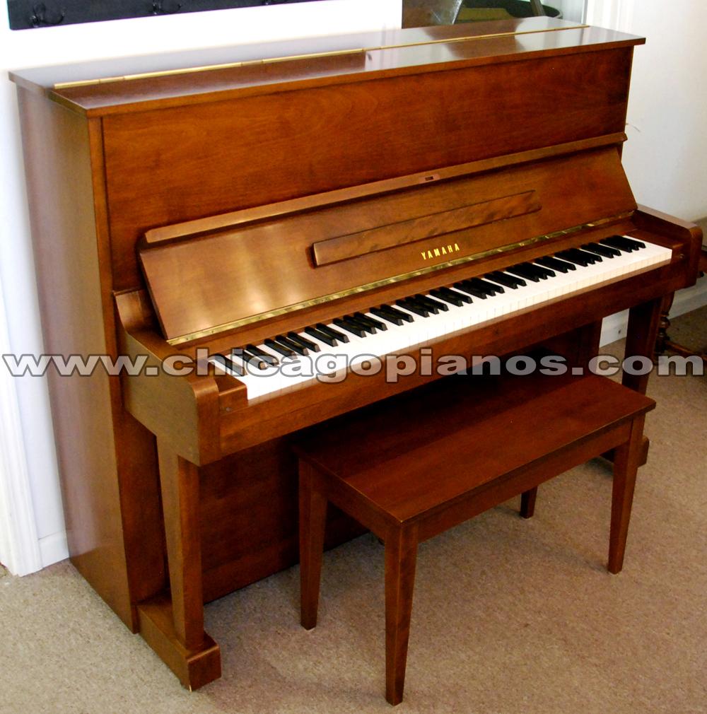 Used yamaha u1 upright piano from chicago pianos com for Yamaha upright piano used